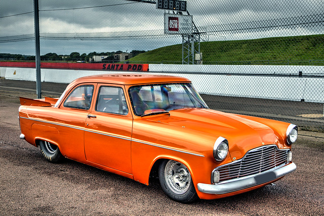 Orange Ford Zephyr