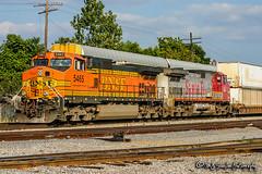 BNSF 5465   GE C44-9W   BNSF Yale Yard
