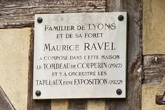 _W4A4964 Ravel Plaque Lyons la-Foret
