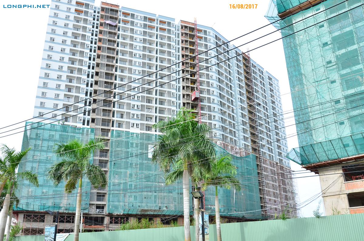 Mặt trong tháp Nam M2 - Jamona Apartment ngày 16/08/2017.