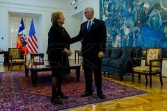 Vicepresidente de EEUU Mike Pence visita Chile