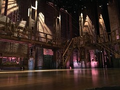 Stage of Hamilton at the Richard Rodgers theater in New York City