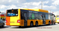 rear view of recently repainted CNG MAN ARRIVA 1502 route 6A on diversiom