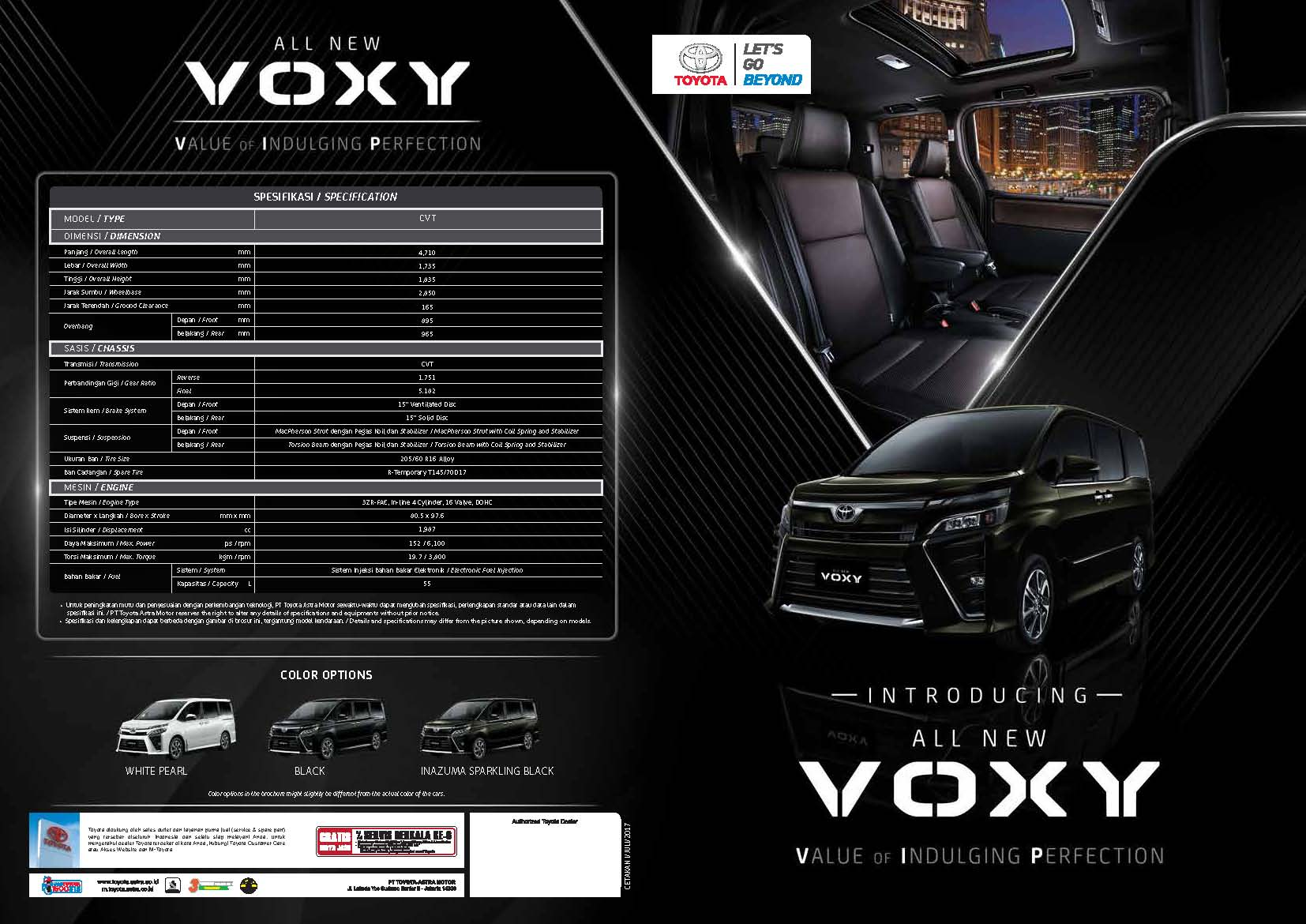 Brosur Mobil Toyota Voxy di Jakarta