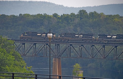Norfolk Southern Freight Train on the Potomac River Railroad Bridge Shepherdstown (WV) August 2016