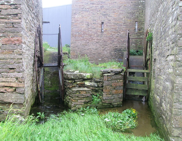 Old mill wheels, Barony Mill