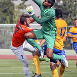 UVIC keeper Jasdeep Lally (Sept2, 2017 Allen Douglas)