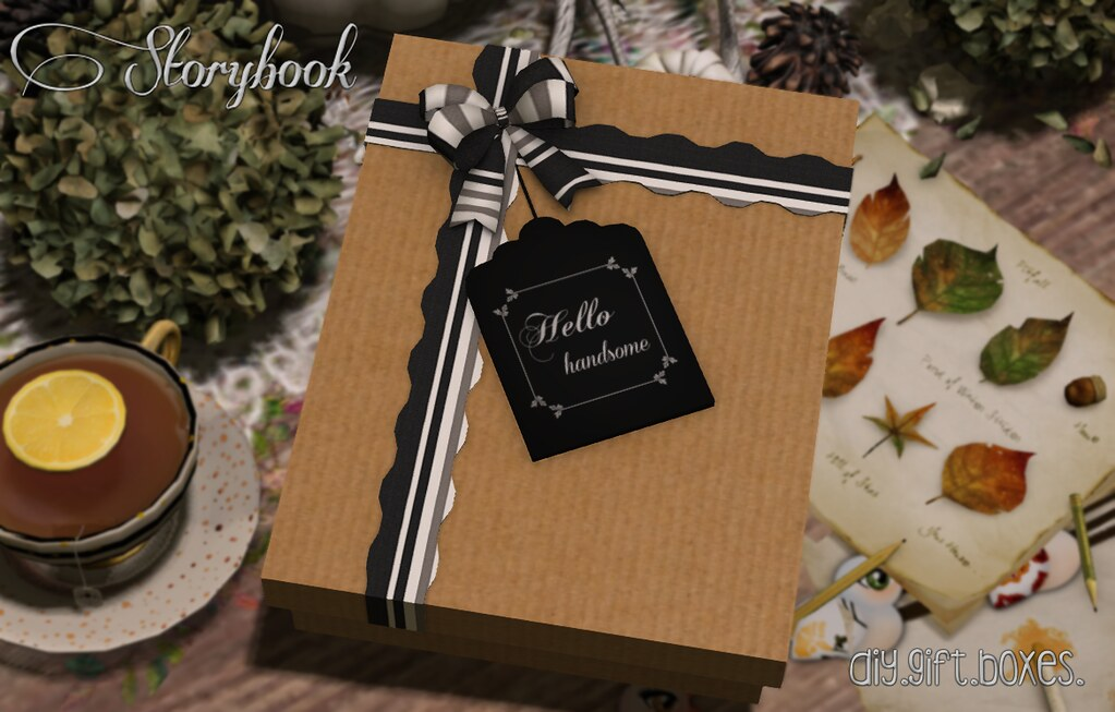 :Storybook: diy gift box [hello]
