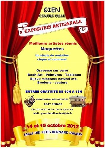 Aux Portes de l'Universel à l'exposition artisanale Salle Palissy à Gien en octobre 2017