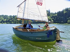 Derek and Lacy rocking LIBERTY... it's a real treat to sail on fresh water, once again ...so fresh, so green