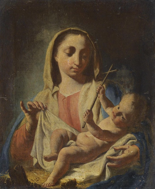 Francesco Capella called Daggiu - The Madonna and Child