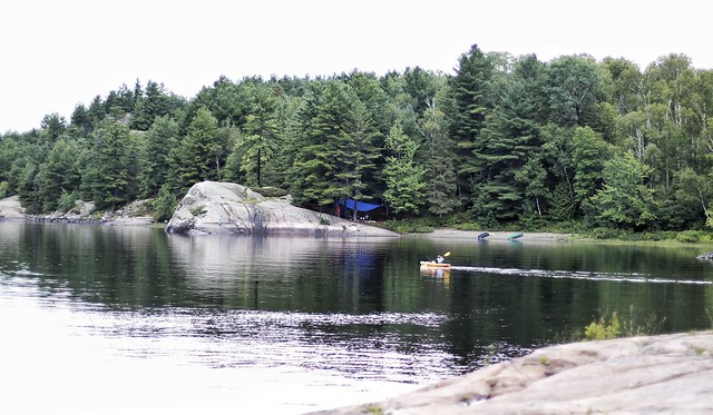 Camping on the French River