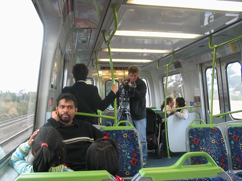 Media on train, Craigieburn station opening, September 2007
