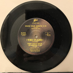 THE CLASH:KNOW YOUR RIGHTS(RECORD SIDE-B)
