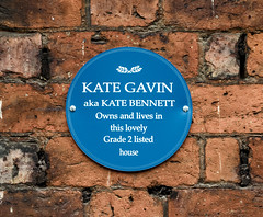 Photo of Kate Gavin blue plaque
