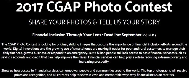 CGAP Photo Contest 2017