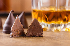 Сhocolate truffle candies with rum