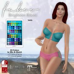 FABOO. Brighton Bikini Solids