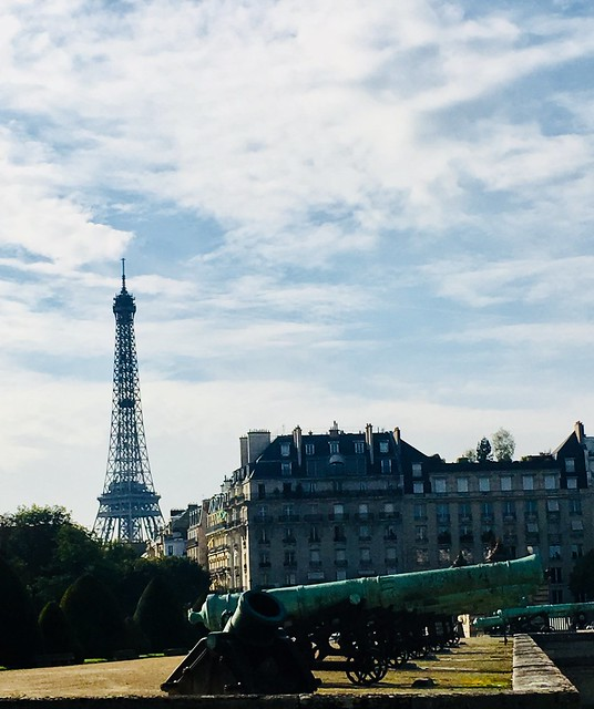 The Eiffel Tower seen from Les Invalides