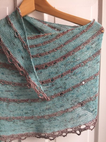 Shawl knit by Poppyprint