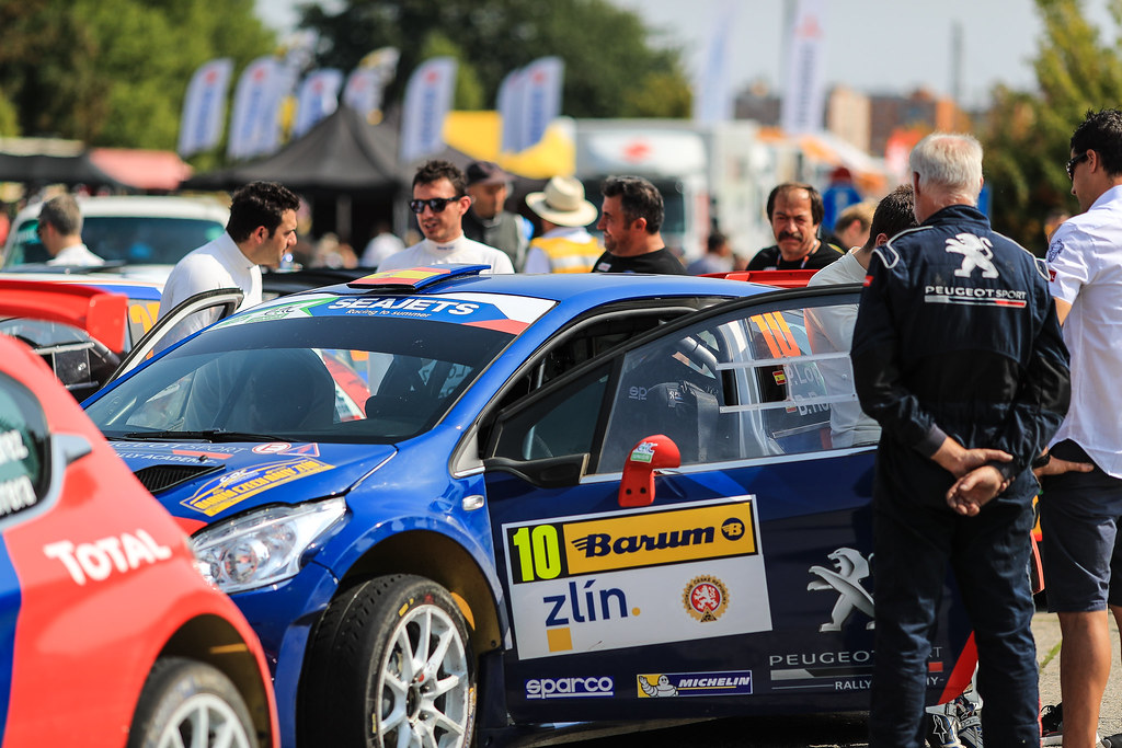 10 LOPEZ Jose Maria (ESP) ROZADA Borja (ESP) Peugeot 208 T 16 ambience portrait during the 2017 European Rally Championship ERC Barum rally,  from August 25 to 27, at Zlin, Czech Republic - Photo Jorge Cunha / DPPI