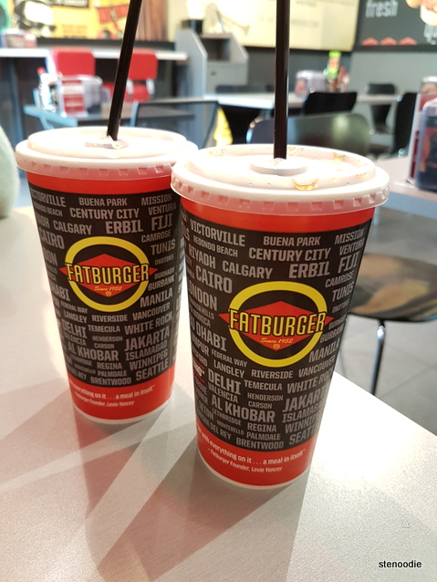 Fatburger soft drinks