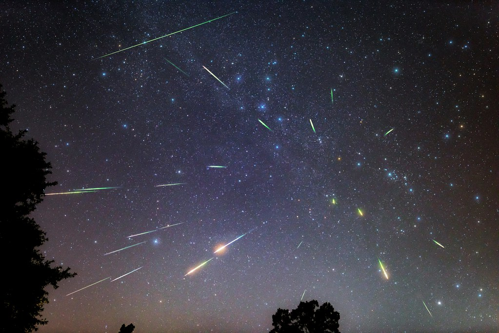 perseid meteors shower