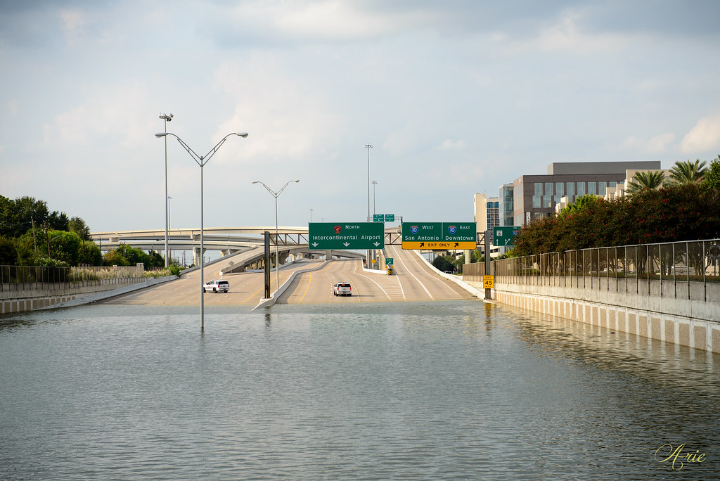 Beltway 8 Flooded near Memorial and I-10