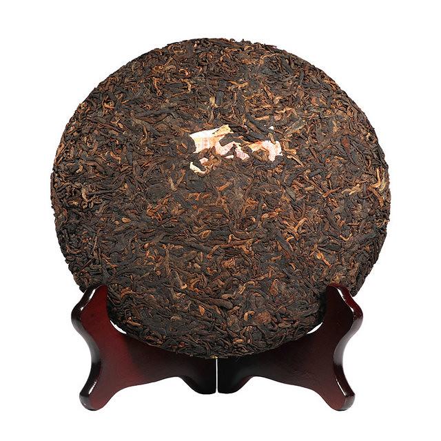 Free Shipping 2017 ChenSheng Zodiac Cock Year Cake Bing Beeng  500g China YunNan Chinese Pu'er Ripe Tea Shou Cha  Organic Weight Loss Slim Beauty