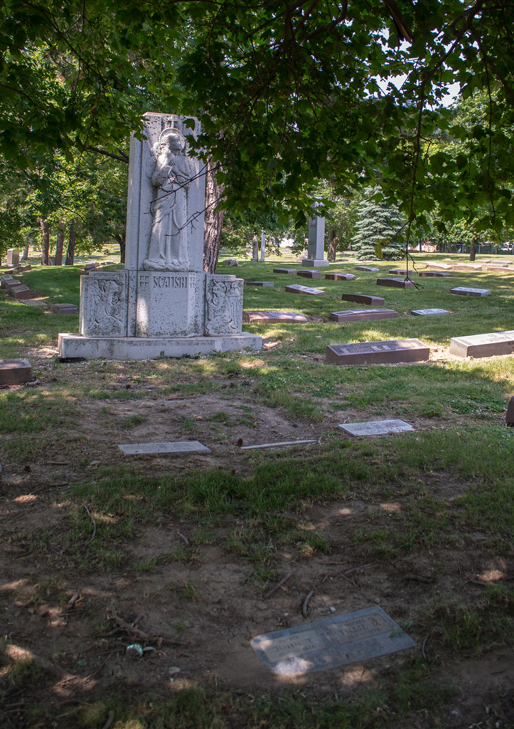 Scalish headstone and memorial - Calvary Cemetery