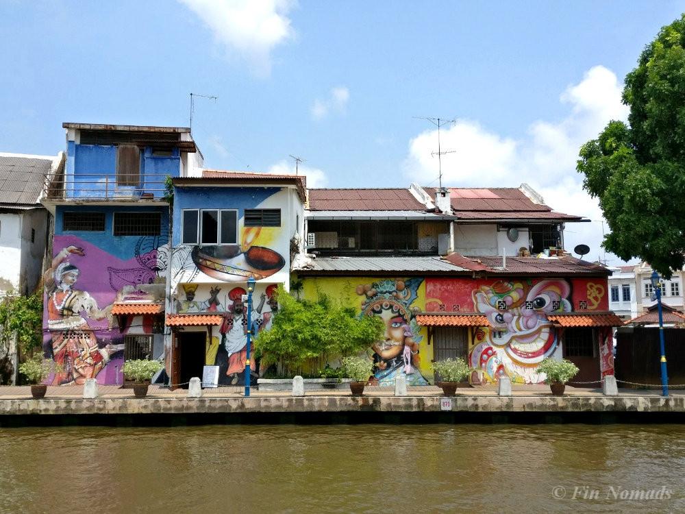 melaka river street art
