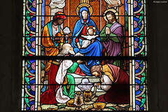 Courcy, église Saint-Lô : la nativité - Photo of Guéhébert