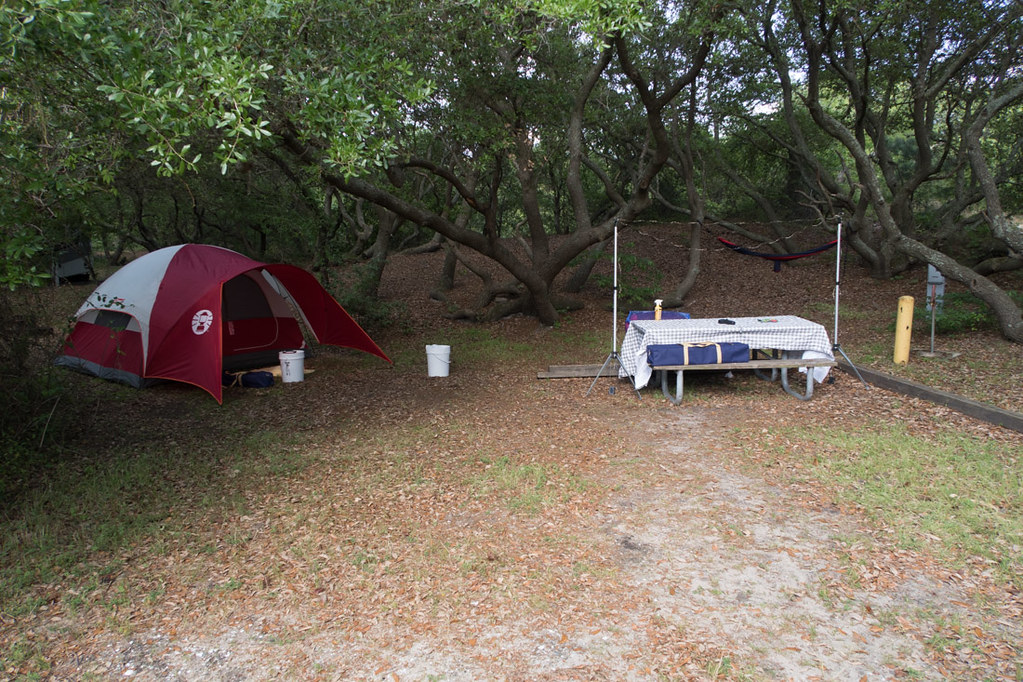 Tent camping at First Landing State Park