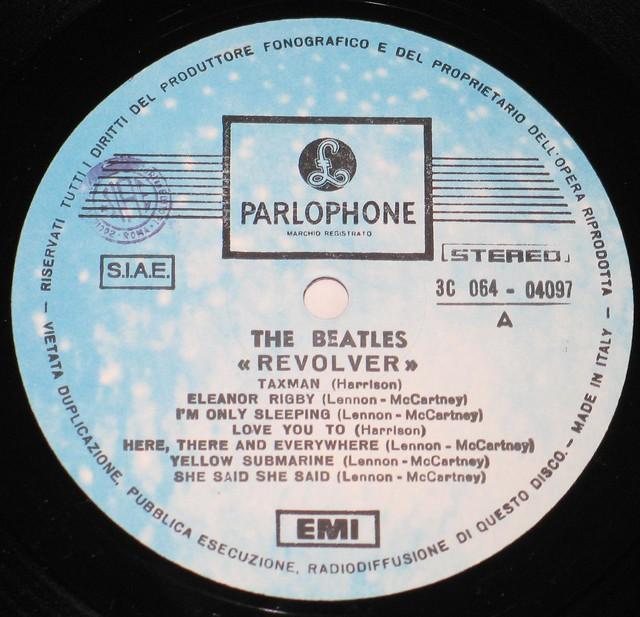 "Beatles Revolver Italy 12"" VinyL LP"
