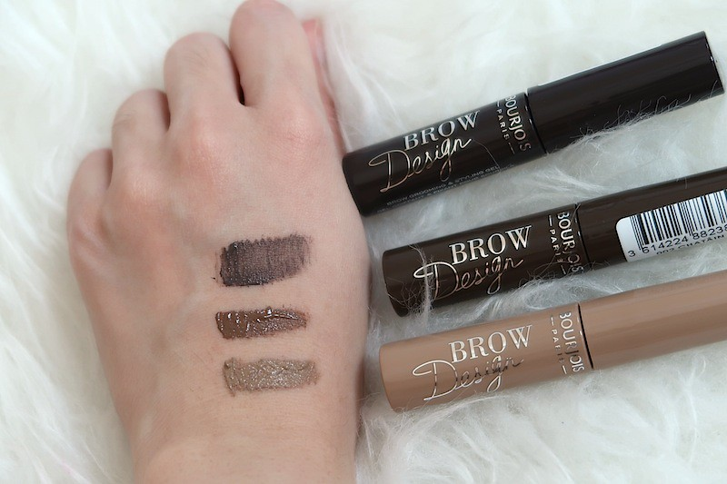 Swatches of Bourjois Brow Design Mascara