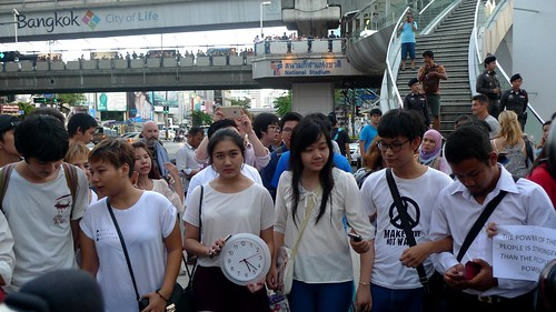 Activist gather at the BACC to commemorate the 22nd May 2014 Incident
