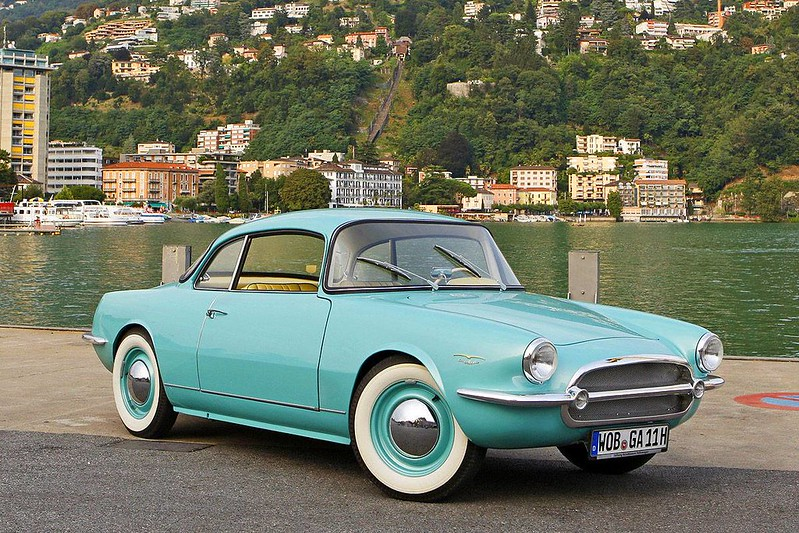 1956 Vokswagen Coupe prototype by Ghia Aigle
