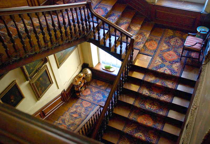 Winding Staircase at Calke Abbey. Credit Thomas Quine