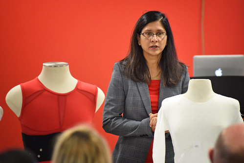 Dr. Veena Misra, Professor of Electrical and Computer Engineering, discusses the Advanced Self-Powered Systems of Integrated Sensors and Technologies (ASSIST) work for members of the Board of Governors and other university leaders.