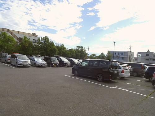松本城の駐車場