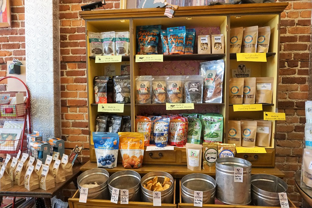 Florida-Made Dog Treats at Brownie's Dog Boutique in Daytona Beach, Fla., July 15, 2017.