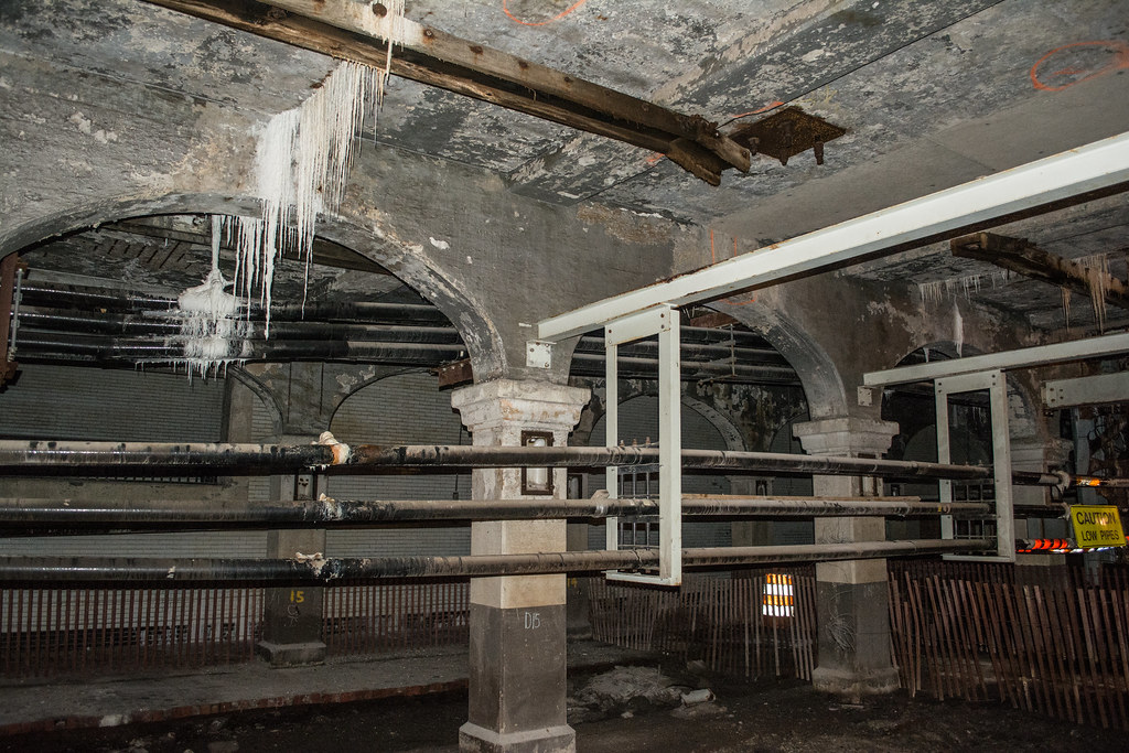 subway tunnel drippings - Detroit Superior Bridge