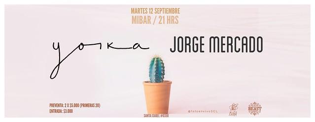 Yorka + Jorge Mercado en MiBar 12 septiembre