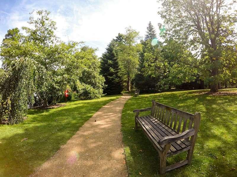 Walking paths in Kew Gardens, London, UK