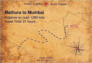 Map from Mathura to Mumbai