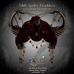Lilith Mesh Spider- Crimson