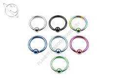 Titanium Anodised Captive Bead Ring