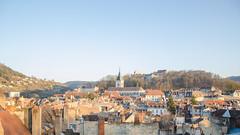 Couché de soleil sur Besançon et sa citadelle