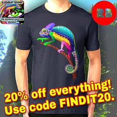 20% off* everything! #Rebel against generic #stuff! Use code FINDIT20 on #BluedarkArt Redbubble Shop ☞ https://www.redbubble.com/people/BluedarkArt/shop :star2:  @redbubble :star2:  #Shoppingemwithbluedarkart #4sale #sale #onsale #fashiontrends #chameleon