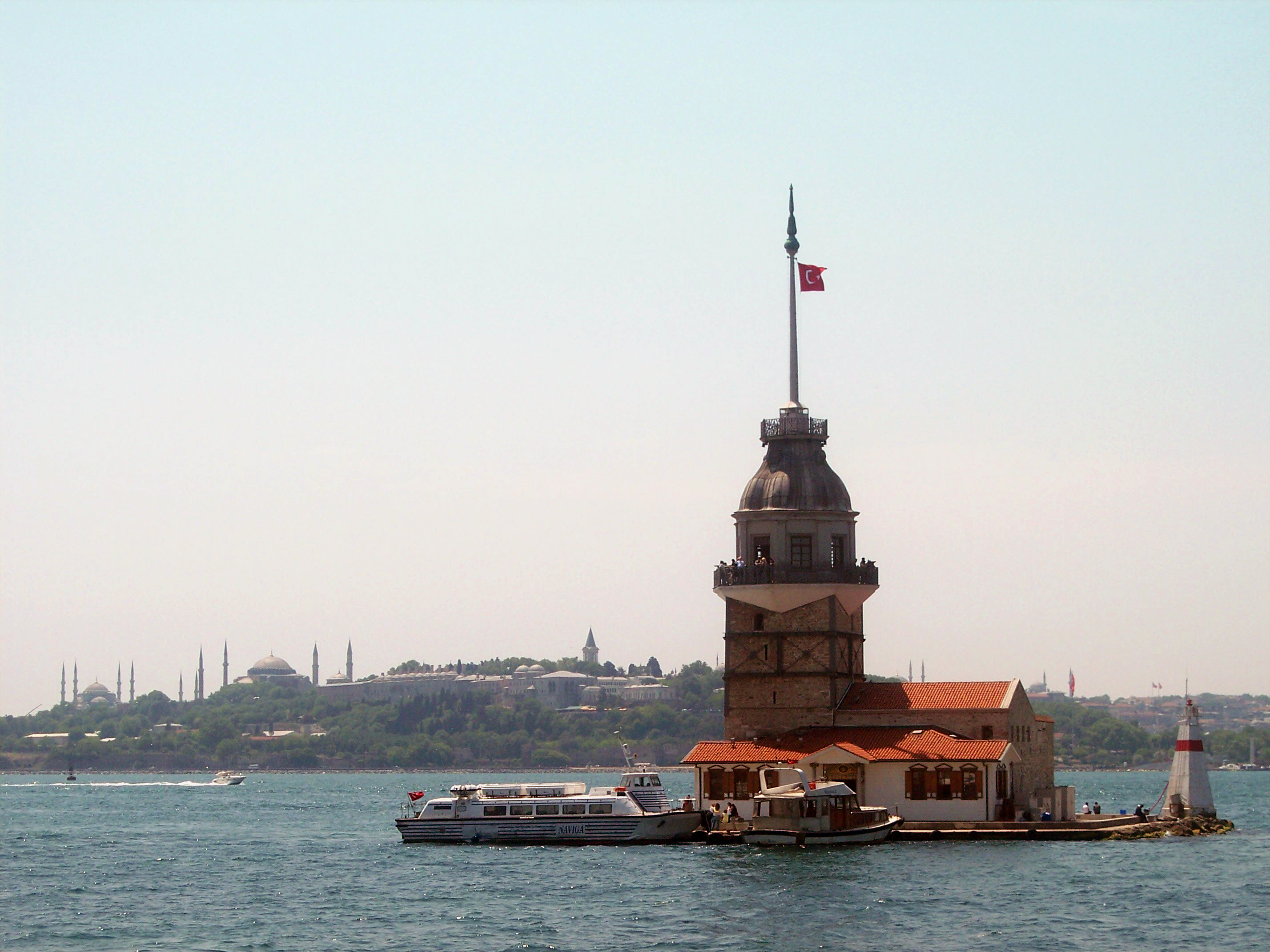 The Maiden's Tower in Istanbul, Turkey. Photo taken on January 23, 2004